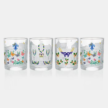 Mignon Faget House FLoats Glasses