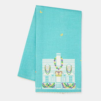 Mignon Faget House FLoats Tea Towel