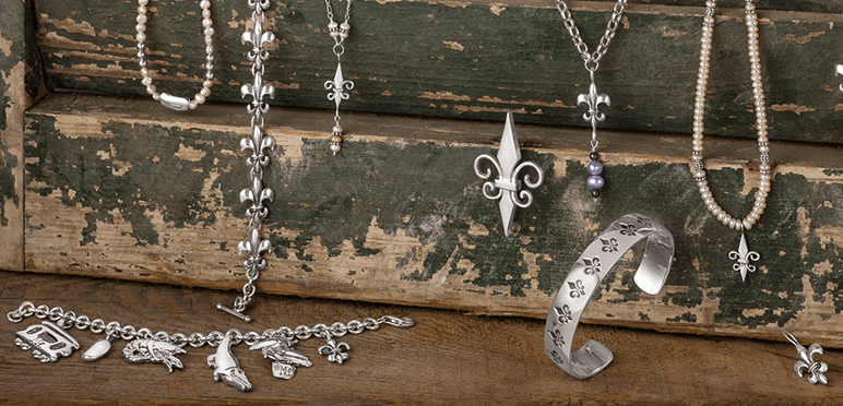 Fleur de Lis Jewelry from the Louisiana Collection