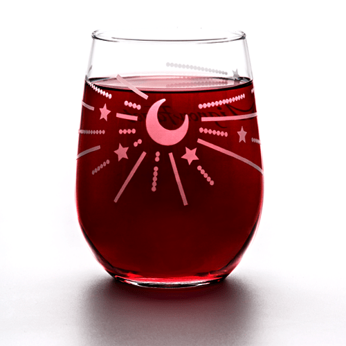 Crescent Stemless Glasses