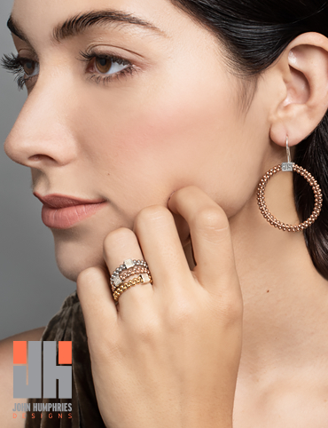 Mignon Faget John Humphries Halo Rings and Halo Earrings