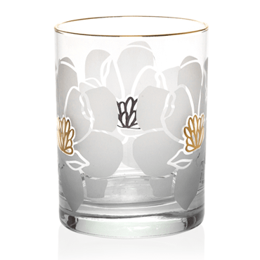 Magnolia 22K Gold Double Old Fashioned Glasses
