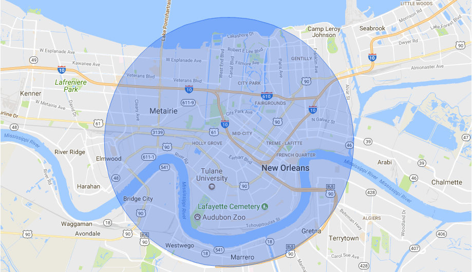 Same Day Delivery | Mignon et Zip Code Map New Orleans on