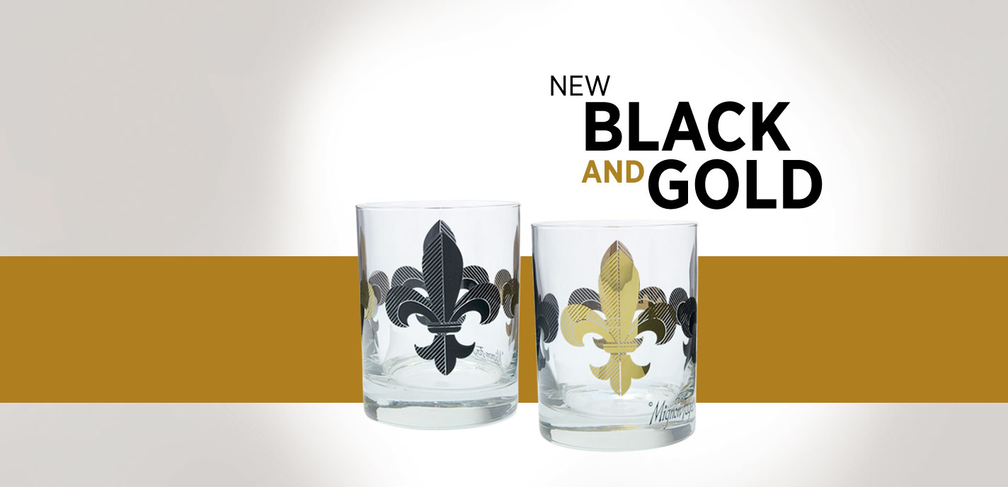 Black and Gold FDL Glassware