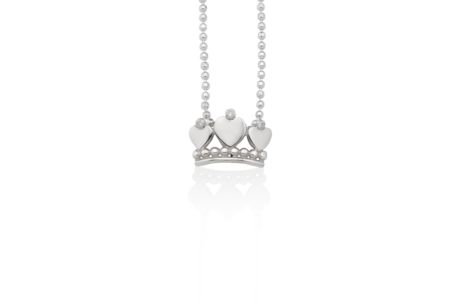 Crown of hearts diamond pendant mignon faget new orleans jewelry crown of hearts diamond pendant aloadofball Choice Image