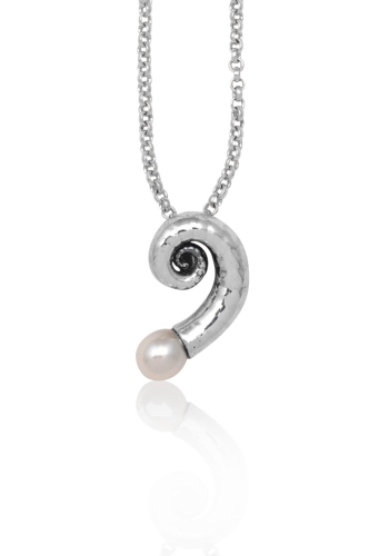 Natural Spiral Shell Charm Pendant x 5 Silver